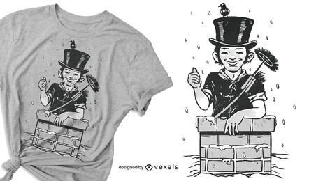 Chimney sweep t-shirt design