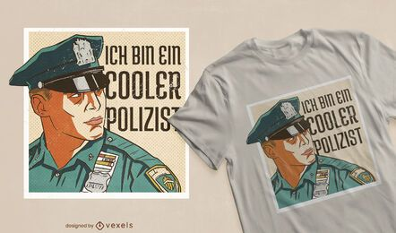 Cool cop German t-shirt design