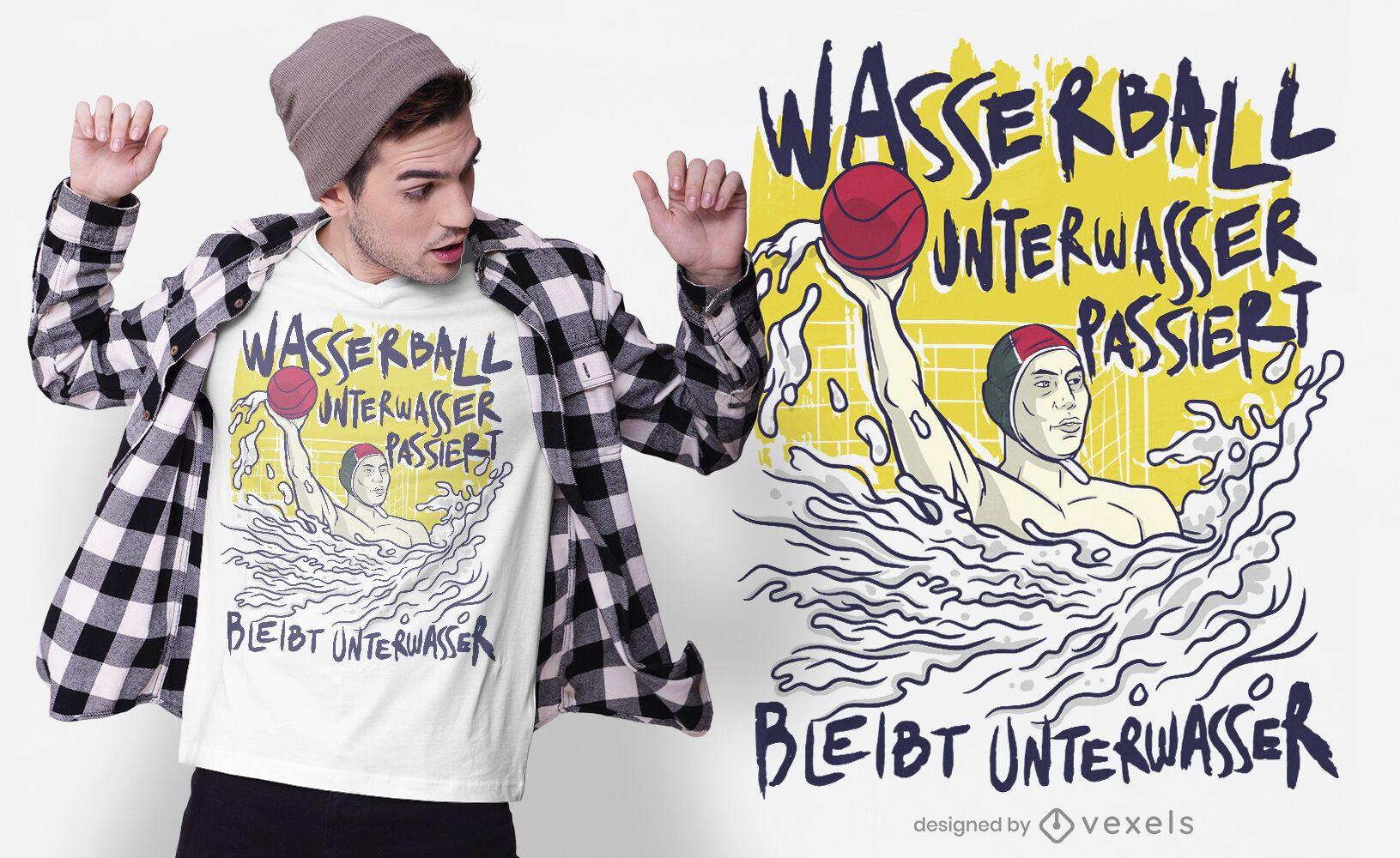 Water polo German t-shirt design