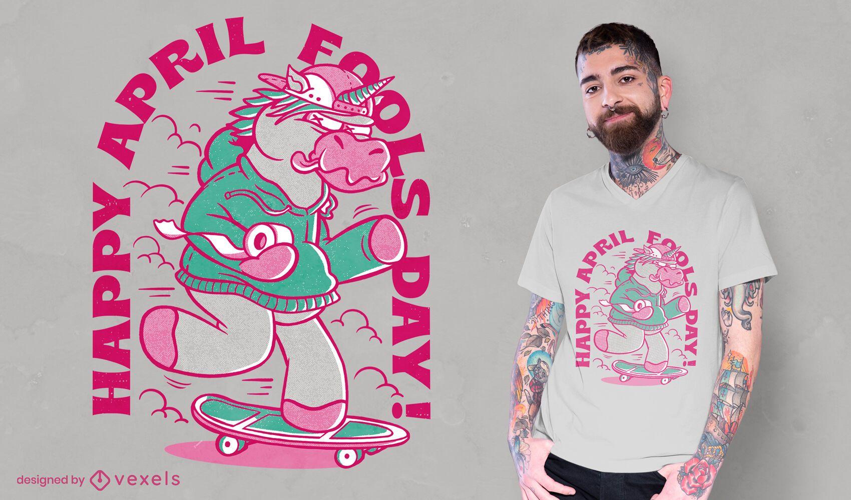April Fools unicorn t-shirt design