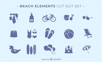Beach elements cut-out set