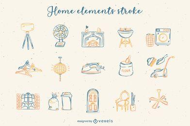 Traço do conjunto de elementos da casa