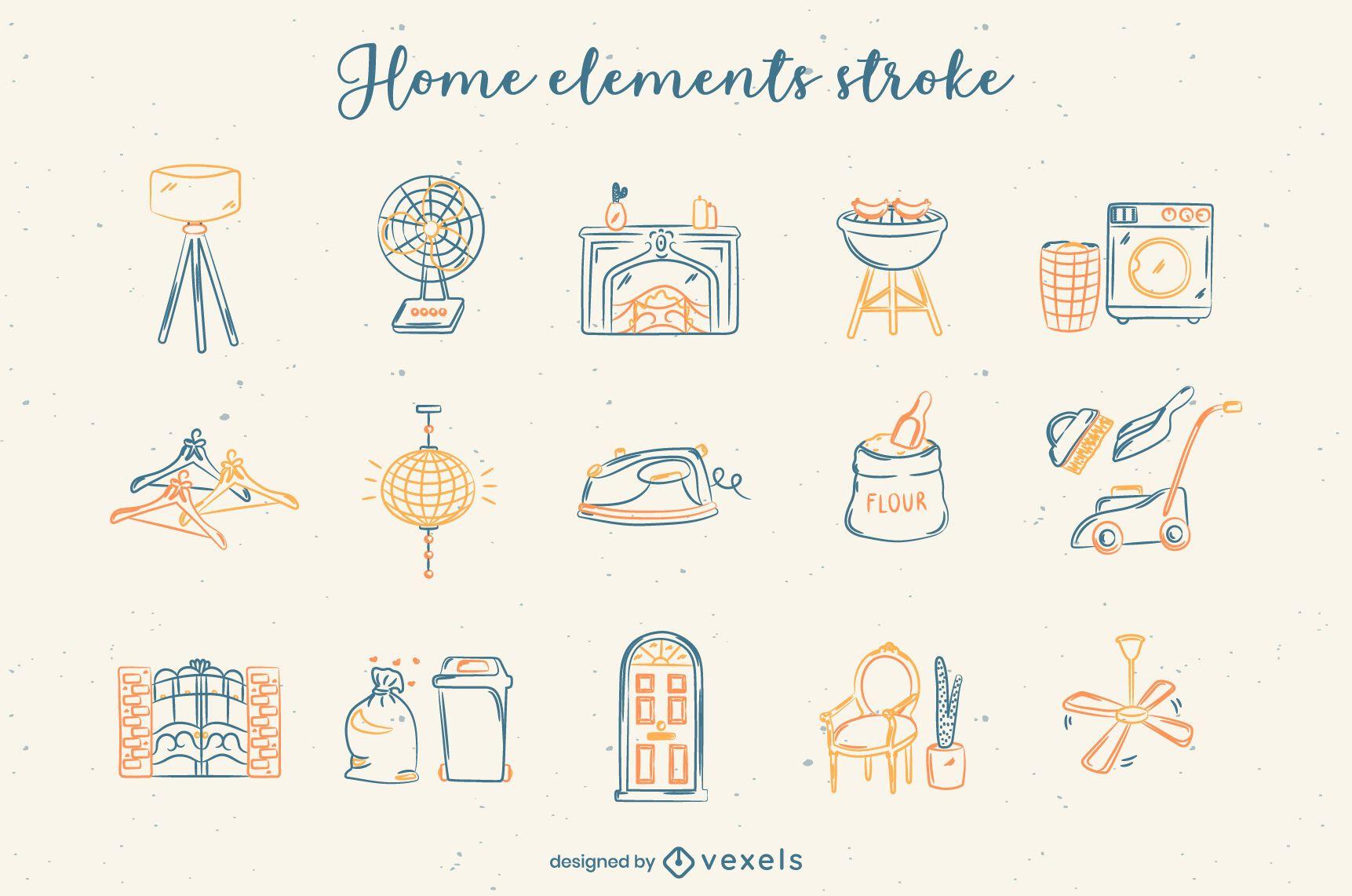 Home elements set stroke