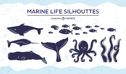 Marine life cut-out set