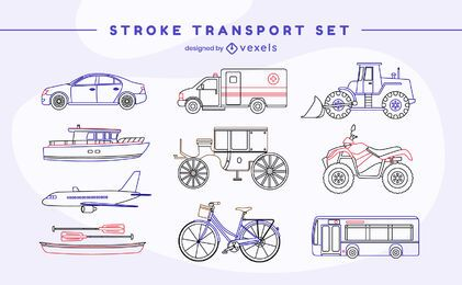 Vehicle transport stroke set