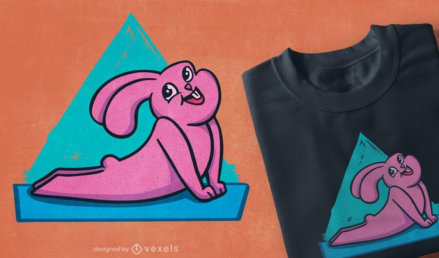 Happy yoga bunny t-shirt design
