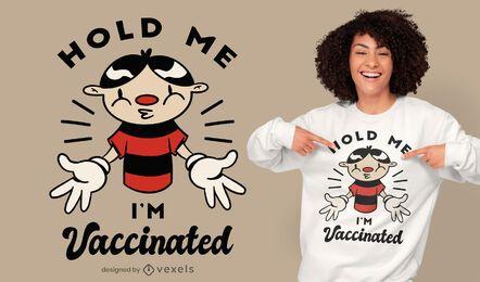 Desenho de t-shirt de desenho animado vacinado
