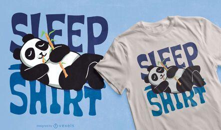 Diseño de camiseta de panda de camisa de dormir