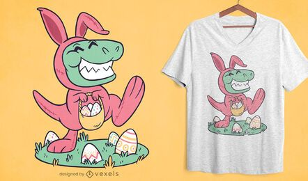 Easter t-rex t-shirt design
