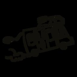 Crazy camping trailer filled stroke