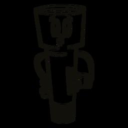 Bored flashlight filled stroke