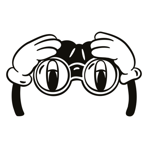 Field glasses filled stroke