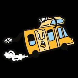 Crazy camping trailer cartoon