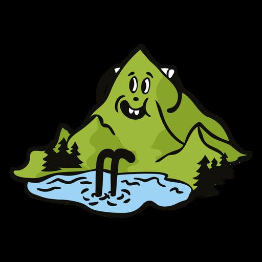 Happy mountain cartoon