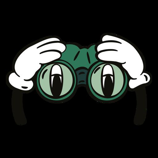 Field glasses cartoon