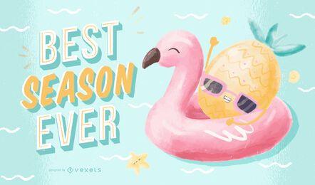 Ilustração da melhor temporada de todos os tempos