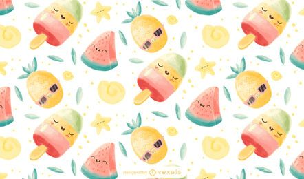 Kawaii fresh pattern design