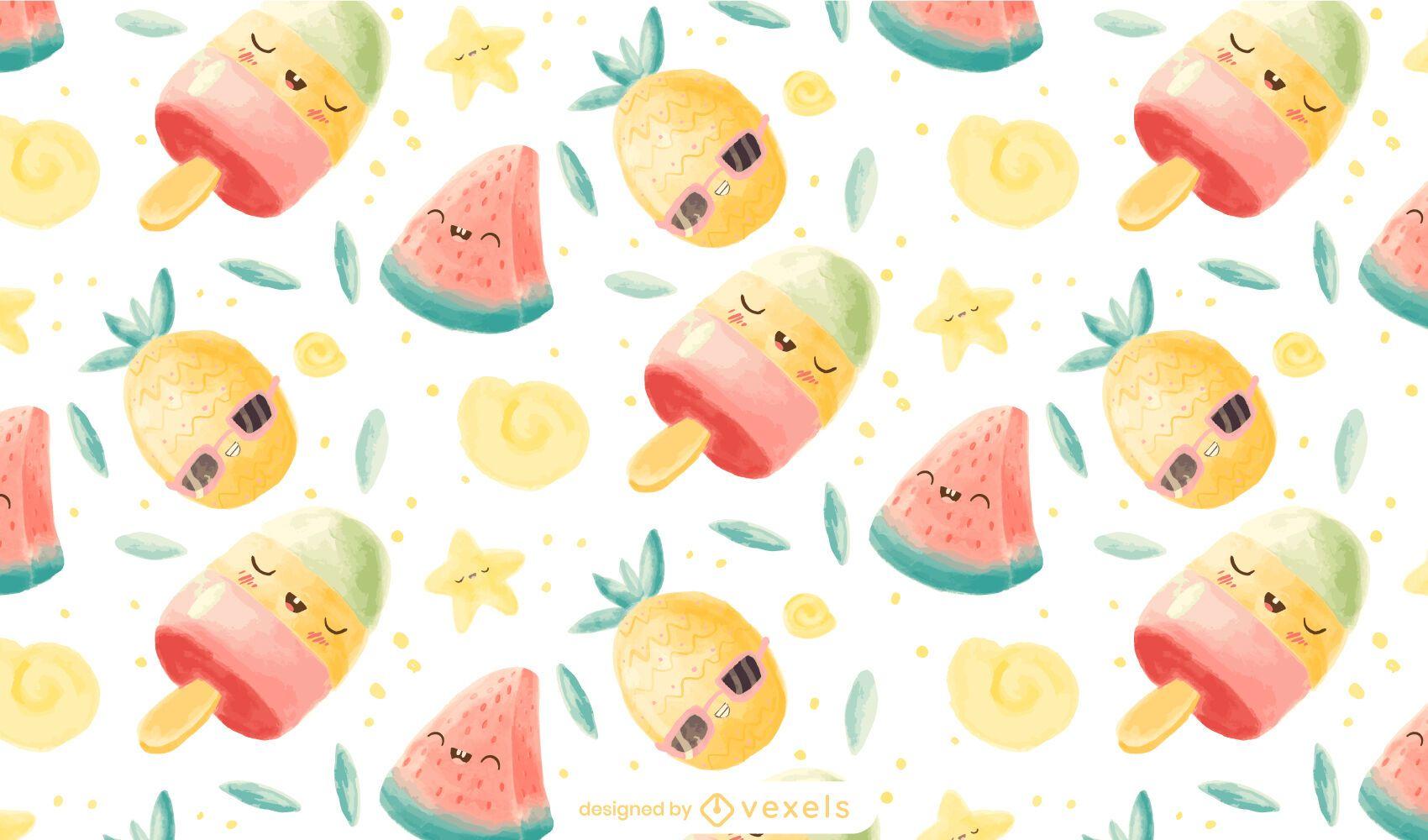 Kawaii fresh pattern design
