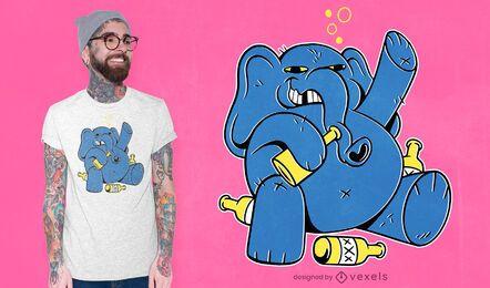 Drunk elephant t-shirt design