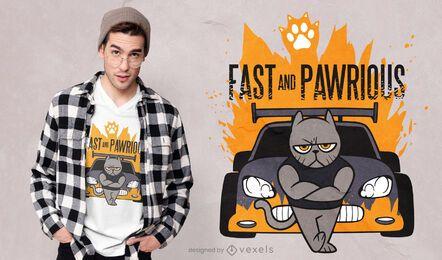 Diseño de camiseta rápido y pawrious