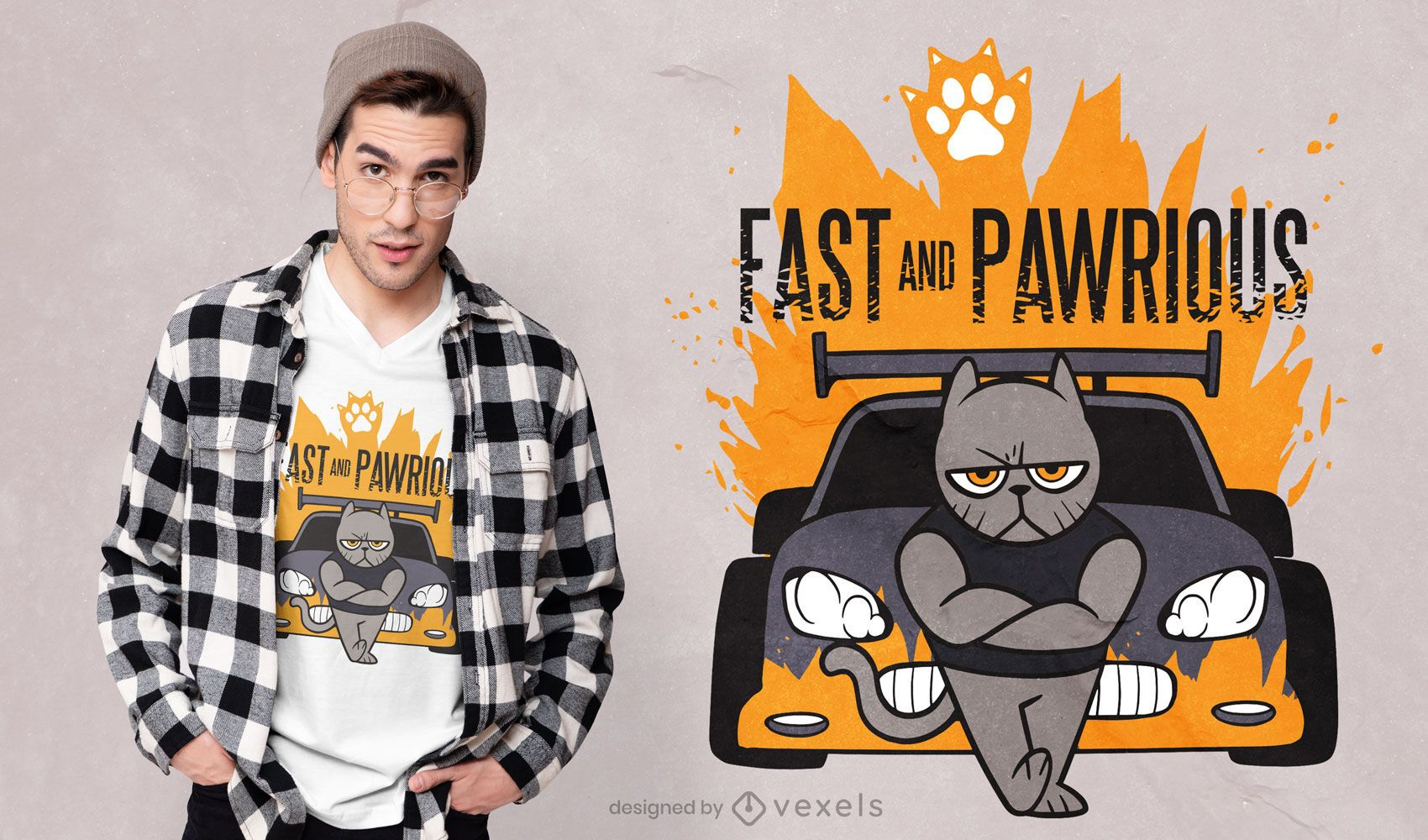 Fast and pawrious t-shirt design