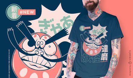 Daruma japanese yokai t-shirt design