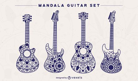 Conjunto de guitarra mandala
