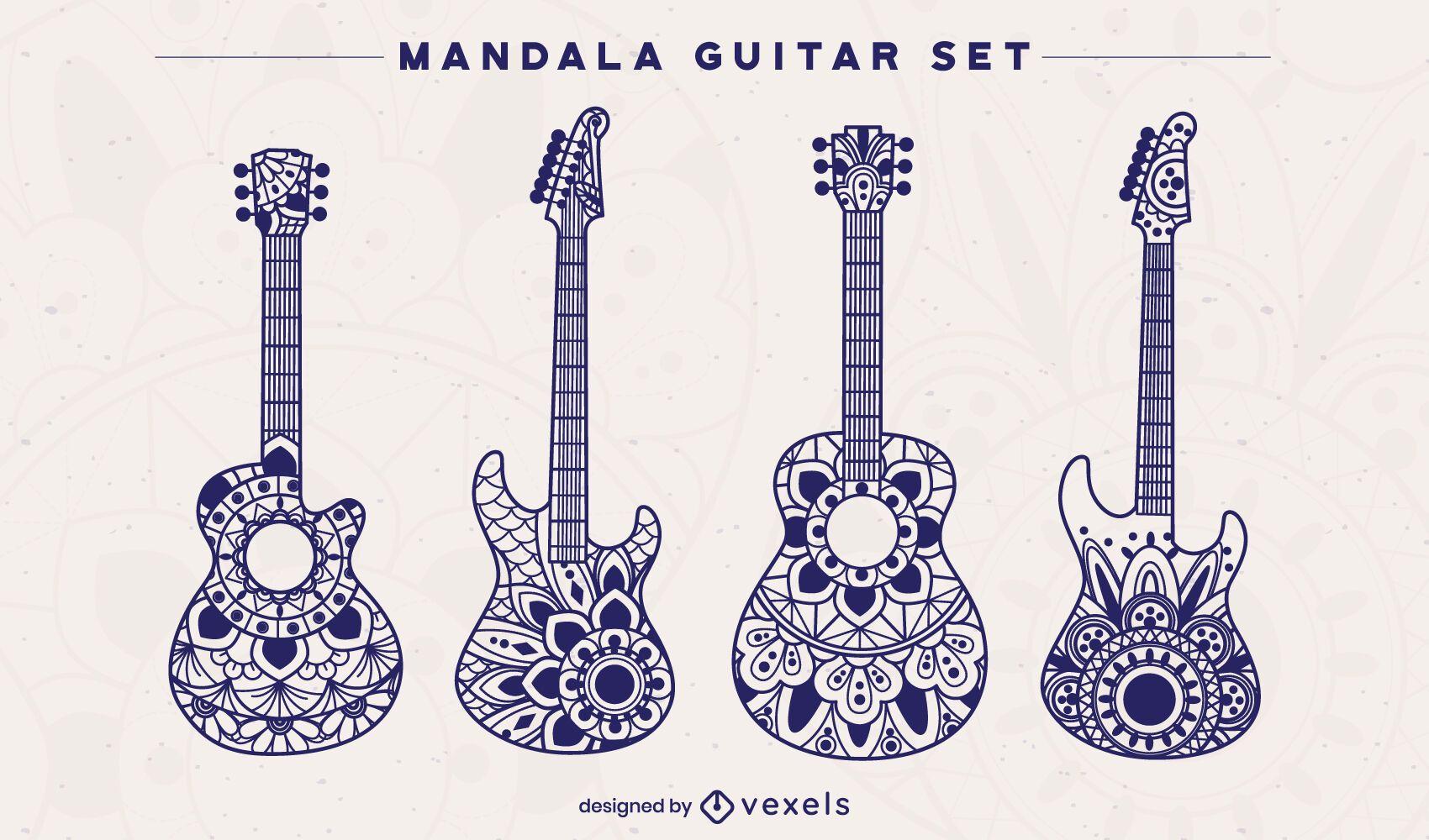 Mandala guitar set