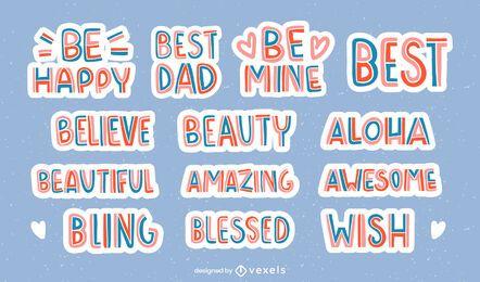 Bons desejos conjunto de letras