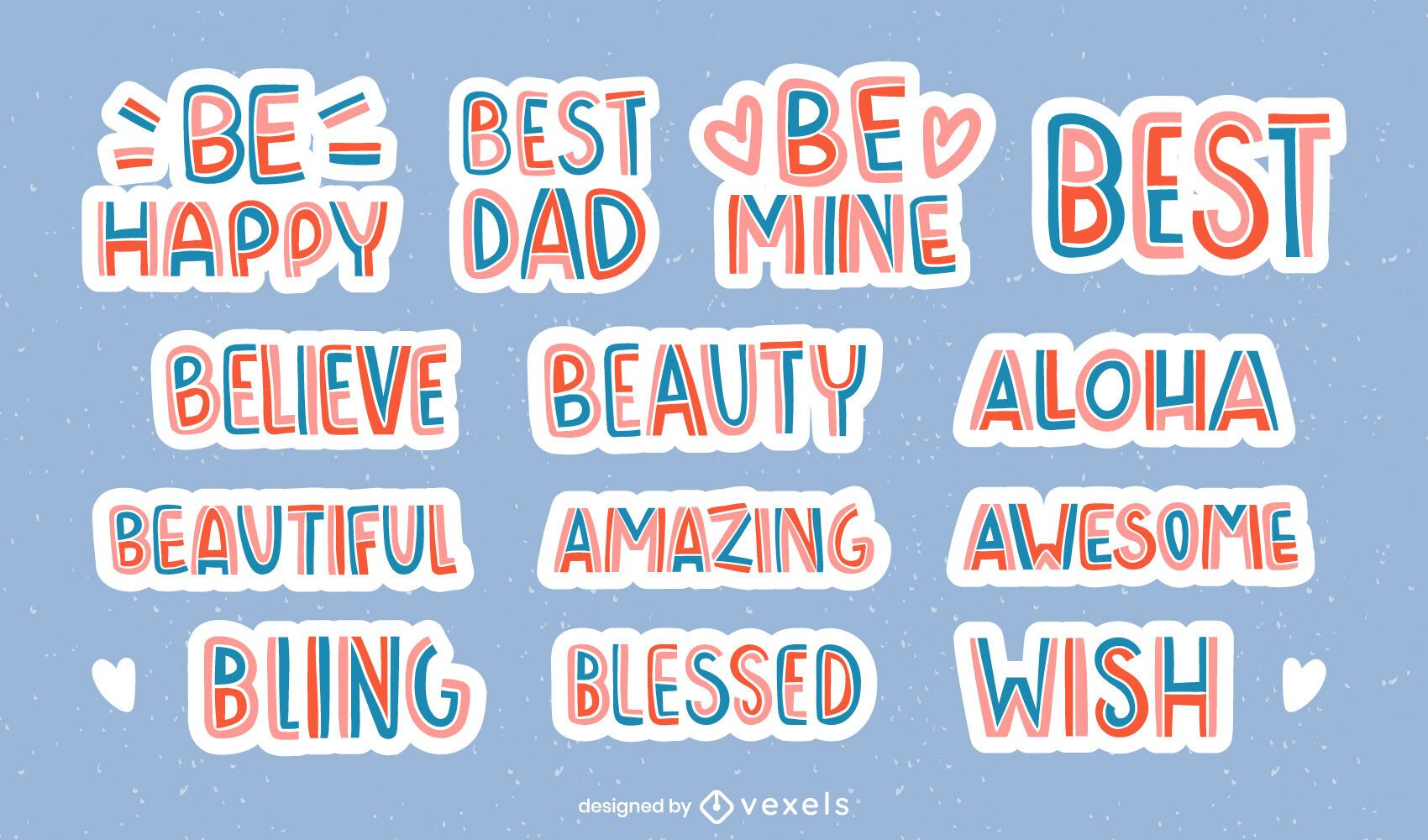 Nice wishes lettering set