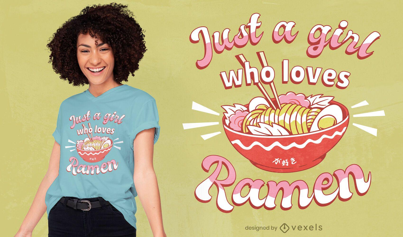 Ramen lover t-shirt design