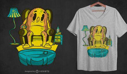 Diseño de camiseta de patata zapping