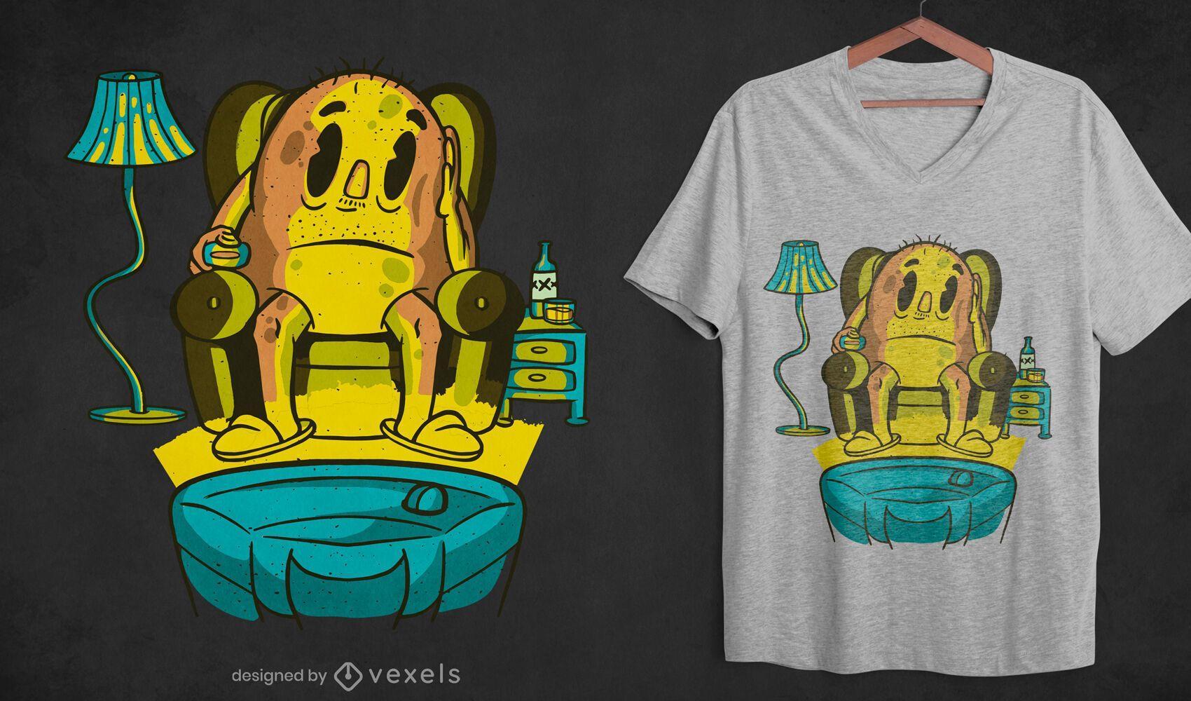 Potato zapping t-shirt design