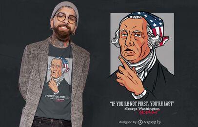 Diseño de camiseta con cita de Washington