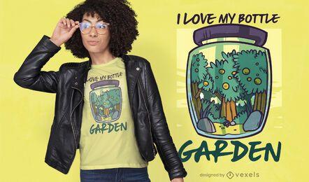 Bottle garden t-shirt design