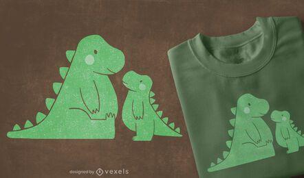 Design fofo de camisetas t-rexs