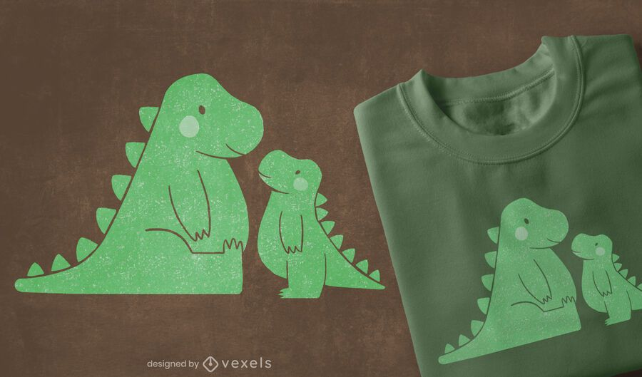 Cute t-rexs t-shirt design