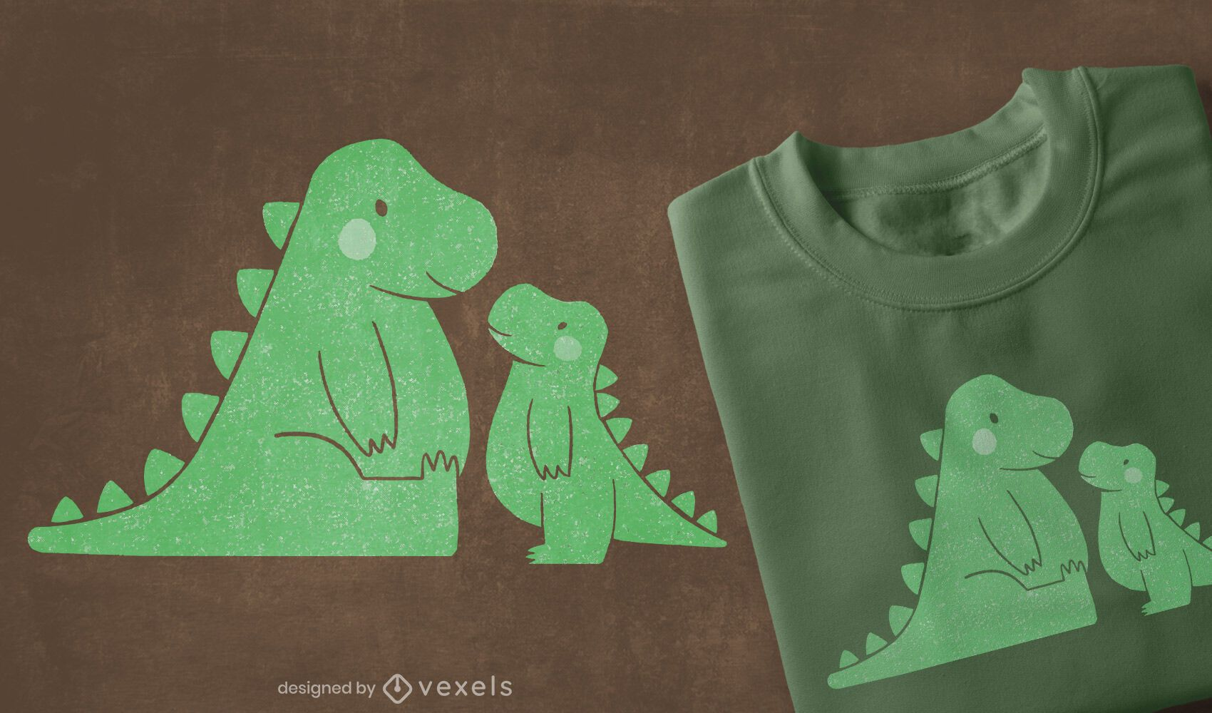 Cute t-rexs t-shirt design