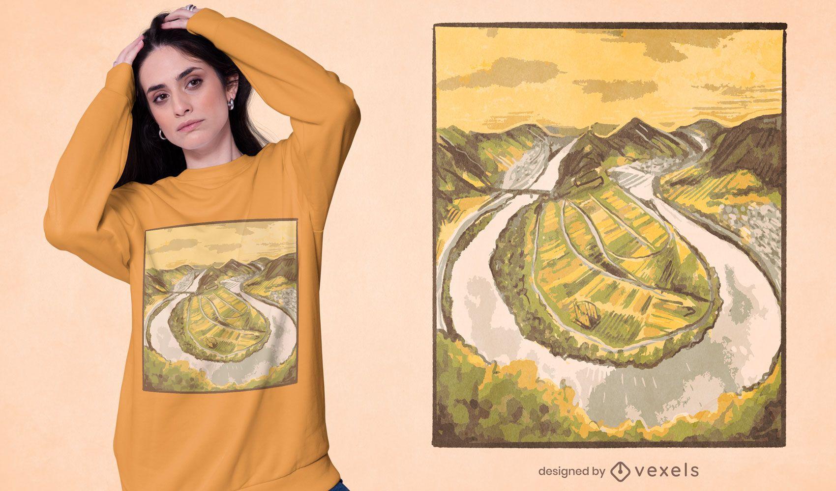 Diseño de camiseta Moselschleife