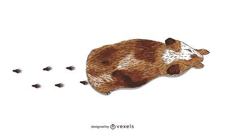 Ilustração de trilha de cobaia