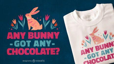 Diseño de camiseta con cita de Pascua de chocolate