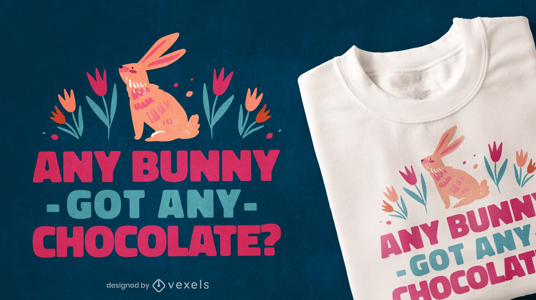 Chocolate Easter quote t-shirt design