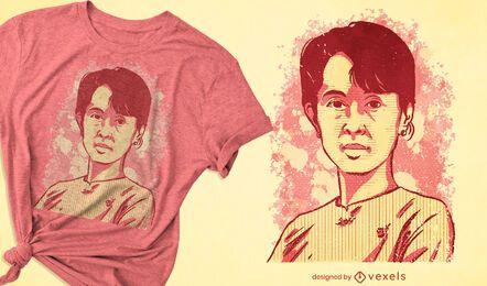 Design de camisetas de Aung San Suu Kyi