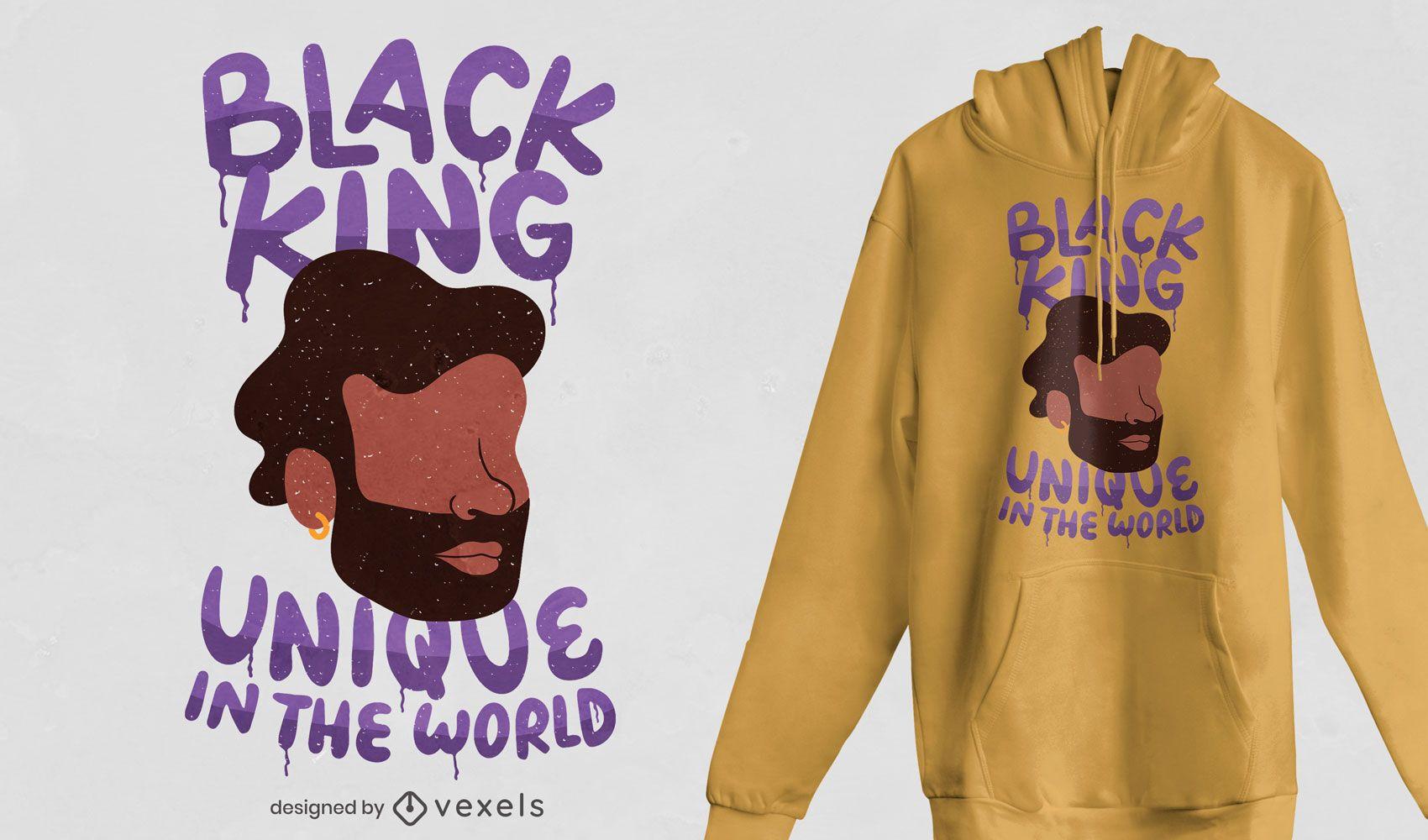 Unique black king t-shirt design