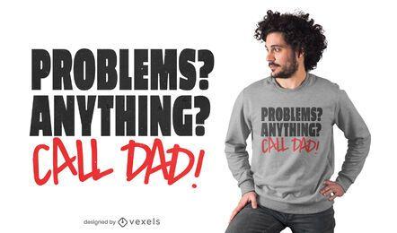 Call dad t-shirt design