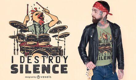 Eu destruo o design da camiseta do silêncio