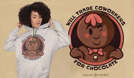 Diseño de camiseta de hombre chocolate