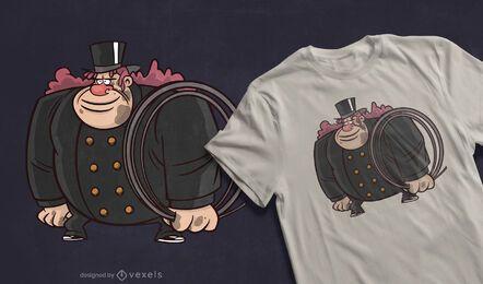 Design de camiseta para varredor de chaminés