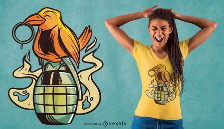 Vogel auf Granade-T-Shirt Design
