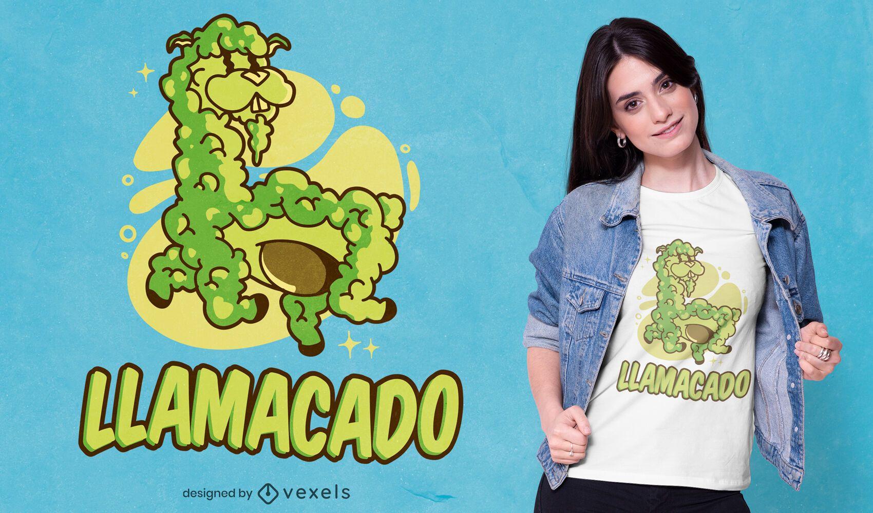 Llamacado t-shirt design